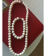 Pearl Necklace and bracelets New Jewelry - $58.00