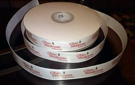 Ohio Wesleyan University Inspired Grosgrain Ribbon - $5.90