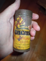 Vintage Tin Whole Nutmeg Container  - $9.99