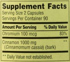 Spring Valley - Cinnamon 500 mg Plus Chromium, 180 Capsules - $13.40