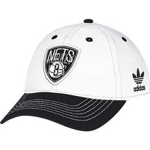 Adidas Women's BROOKLYN NETS Basic Slouch White Adjustable Hat Cap - ₨1,284.40 INR