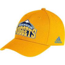 Adidas Denver Nuggets Sideline Flex Hat Cap Sz S/M new - $17.00