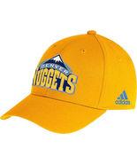 Adidas Denver Nuggets Sideline Flex Hat Cap Sz M/L new - $20.00