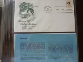 STAMP Dolly Madison 15 cent FDI Cover Washington, DC 1980 + Desc - $2.99