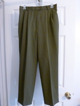 PANTS SLACKS Womens C.B.COLLECTIONS Dark Olive Green Size 10 Petite VEUC - $8.18