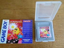 Nintendo GAME BOY Ms. Pac Man Game 1993 Plastic Storage Case & Manual WORKS - $12.86