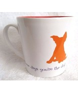 Coffee Cup Mug Red White SOME DAYS YOU'RE THE DOG SOME DAYS THE FIRE HYD... - $12.95