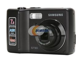 Samsung Digimax S730 7.2 MP Digital Camera Black - $30.63