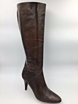 Cole Haan Brown Italian Leather Tall Boots Heels Italy size 9B D20426 B8... - $53.95