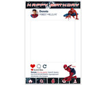 Spiderman Selfie Frame Photo Booth Prop Poster