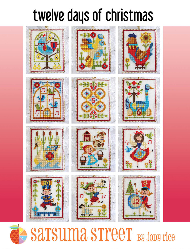 12 Days Of Christmas cross stitch chart and 50 similar items