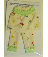 "11-1/2"" Barbie Doll-Size Clothes New Corduroy 2-Piece Pajama Set Green Trim - $11.99"