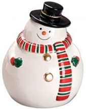 Winter Snowman Cookie/Snack Jar [Brand New] - $59.05