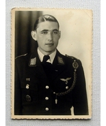 WW2 Photograph Portrait Of A German Luftwaffe Officer - $22.00