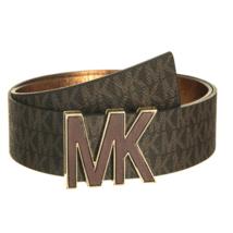 Michael Kors Women's Premium MK Logo Signature Plaque Faux Leather Belt 553504 image 7