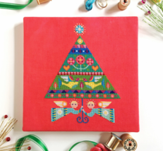 Merry and Bright christmas cross stitch chart Satsuma Street - €7,87 EUR