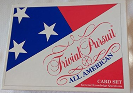 Trivial Pursuit All American Edition Card Set General Knowledge Question... - $29.73