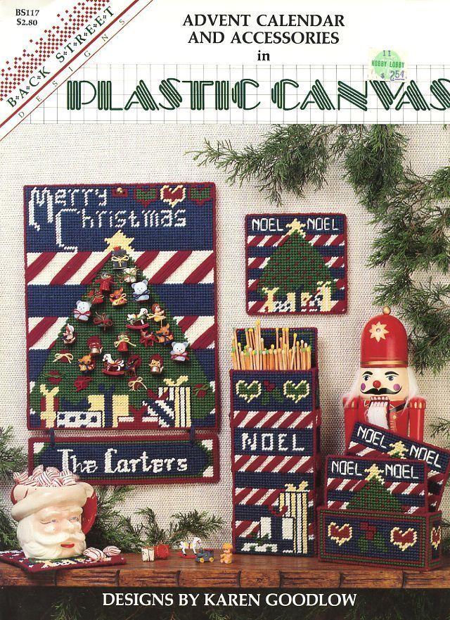 Advent Calendar & Christmas Accessories Plastic Canvas PATTERN/INSTRUCTIONS RARE