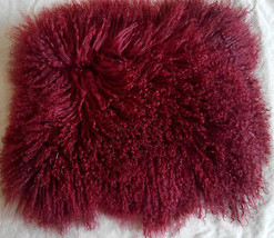 Red Mongolian Tibetan Fur Pillow Cover Pillowcase Decorative Cushion Covers - $64.99+