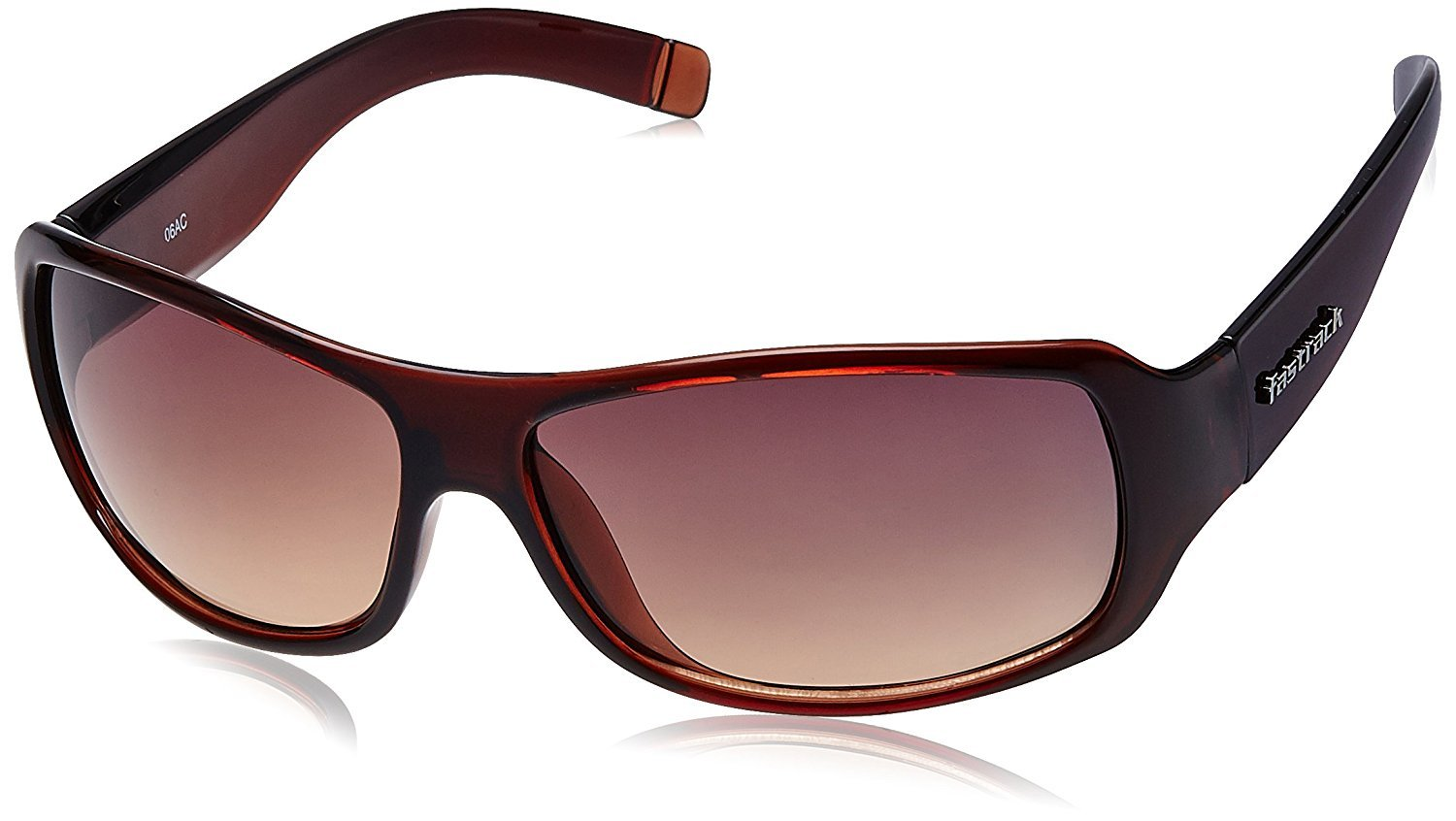 Fastrack UV Protection Wrap Men's Sunglasses (P089BR2Brown)