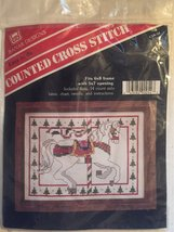 Carousel Christmas Horse Counted Cross Stitch Kit [Brand New] - $29.69