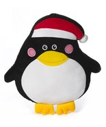 Flat Black Penguin Stuffed Plush Pillow by Ganz [Brand New] - $24.77