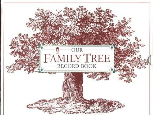 Family Cookbook Cover : Our family tree record book hardcover brand new