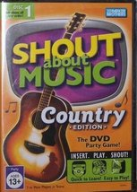 "Shout About Music ""Country Edition"" [DVD Game ~ Brand New] The DVD Party Game! - $7.89"