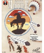 Good Medicine Plastic Canvas Patterns Book Indian Headress Feathers Southwest  - $17.44