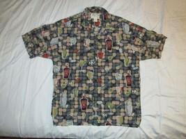 Big Dogs Cocktail Button Up Hawaiian Shirt Sz L Aloha Vacation Martini M... - $18.99
