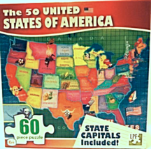 """60 Piece Puzzle """"The 50 United States of America"""" [Brand New] - $14.62"""