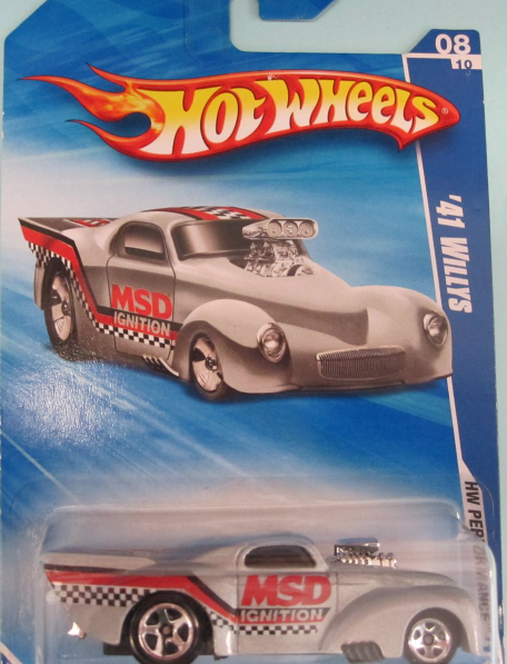 Primary image for Hot Wheels Silver '41 Willys 2010 Performance Series [Brand New]