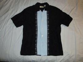 Cubavera Guayabera Cuban Wedding Button Up Shirt Sz M Cigar Smoking - $29.99