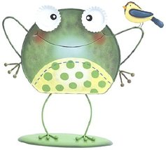 Ganz Whimsy Frog Figurine with Bird on Arm - $34.47