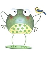 Whimsy Frog Figurine with Bird on Arm [Brand New] Ganz - $34.47