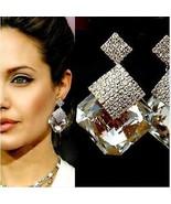 Elegant Super Star Quality Ladies Gold Drop Pierced Ear Party Earrings ! - $29.00
