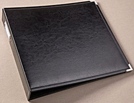 Project Life Album 12x12 Faux Leather Black w/ Silver Hardware by Stampin Up  - $43.45