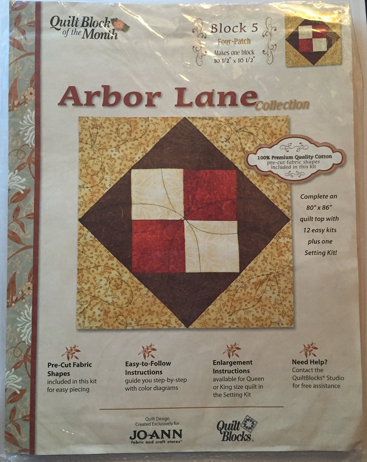 Joann Quilt Block of the Month Arbor Lane Collection #5 [Brand New] - $29.69