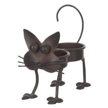 Whimsical Cat Double Tea Light Holder with Candles [Brand New] - $450,06 MXN