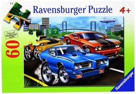 """60 Piece Puzzle """"Muscle Cars"""" [Brand New]  - $16.59"""