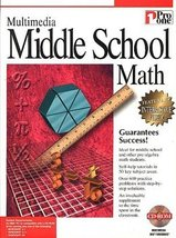 Multimedia Middle School Math [CD-ROM ~ Brand New]  - $13.83