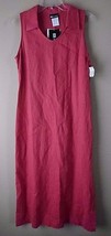 Vintage Linen Sleeveless Long Dress Coral Size 5 Dare To Dress Womens Usa - $48.95