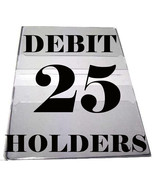 Debit Card Holders Clear Vinyl Cover 4 Pockets - Set of 25 - $25.43