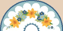 "Latch Hook Pattern Chart: READICUT #834 SPRINGTIME 27"" x 54"" semi - EMAIL2u - $6.95"