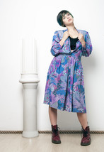 80s psychedelic jungle printed dress - $31.62