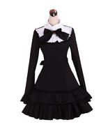 ZeroMart Black Cotton Ruffle Bow Vintage Victorian Gothic School Lolita ... - $69.99