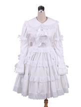 ZeroMart White Cotton Lace Ruffles Bow Vintage Victorian Classic Lolita ... - $69.99