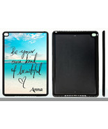 PERSONALIZED RUBBER CASE FOR iPad Air 1 2 Mini 1 2 3 4 BE BEAUTIFUL BEACH - $15.98
