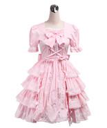 ZeroMart Pink Cotton Lace Bow Ruffle Sweet Retro Victorian Sweet Lolita ... - $69.99