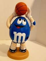 "M&M Blue Character Candy Dispenser Playing Basketball Tennis Shoes 13""x7... - $18.49"